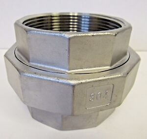 New 4 Inch Fnpt Union 304 Stainless Steel Class 150 Nib