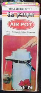 Wonderful Gently Used The Pumper Air Pot Hot Cold Liquid Dispenser In Box