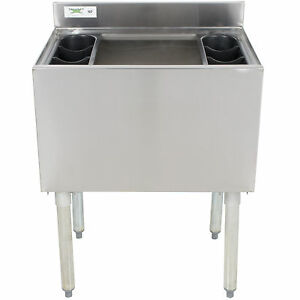 18 X 24 Underbar Stainless Steel Commercial Nsf 77lb Ice Bin Cooler Under Bar
