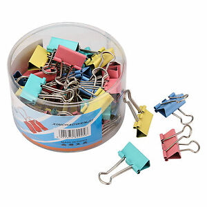 Metal Binder Clip 19 32 41 51mm File Ticket Paper Clip Holder Organizer Colorful