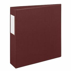 New Lot Of 6 Avery 21003 Heavy Duty 3 ring Binders 2 Maroon One Touch Ezd