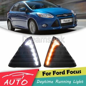 Drl For Ford Focus 2012 2013 2014 Led Daytime Running Light Fog Lamp Turn Signal