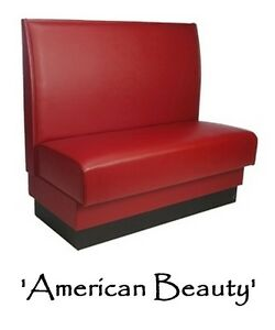 Restaurant Booth American Beauty Red Custom Color Diner Booth Grade 5 Vinyl