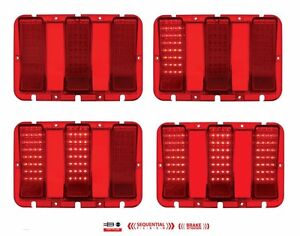 New 1967 1968 Mustang Led Tail Lights Pair Both Left Right Side Sequential