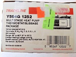 Multistage Heat Pump Thermostat Honeywell Y594g1252 Tradeline
