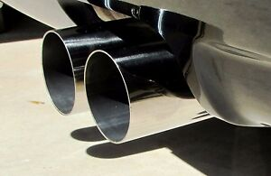Bmw E46 Oversized 3 exhaust Tip Set Of 2 304 Stainless
