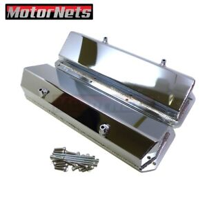 Ford Cleveland Chromed Fabricated Aluminum Valve Cover V8 351c m 400m Tall Sbf