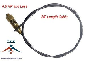 New Throttle Control Cable For Gas Air Compressors Unloader Bullwhip 24