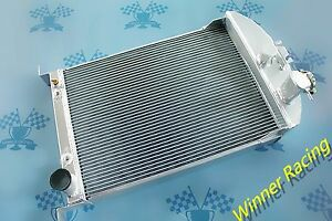 56mm Aluminum Radiator For Ford Car W chevy 350 V8 Auto At 1933 1934 33 34