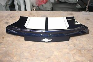 2010 2013 Chevy Camaro Trunk Lid Deck Lid Oem Gm Dark Blue White Racing Stripes