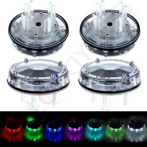 4pcs Color Led Solar Car Wheel Signal Tire Air Valve Cap Neon Light Flash Lamp
