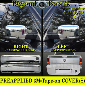 For 2009 2012 Dodge Ram 1500 Chrome Door Handle Covers W O Pkh Mirrors Tailgate