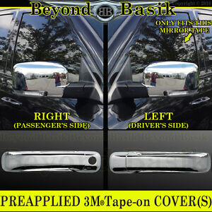 For 2009 2012 Dodge Ram 1500 Chrome Door Handle Covers 1kh Mirrors W Signal