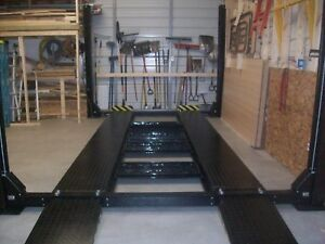 New 4 Post Parking Car Lift Truck Hoist 9000 Lb Capacity Extra Long And Tall