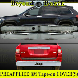 For 2007 2012 Jeep Patriot Chrome Door Handle Covers W O Smkey Tailgate Accent