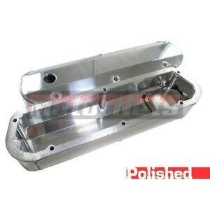 Sbf Ford 289 302 Fabricated Polished Aluminum Valve Covers Tall Mustang V8 5 0l