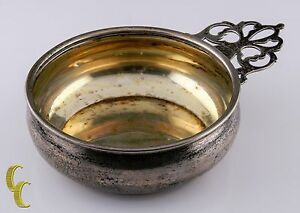 Antique Webster Sterling Silver Porringer Bowl W Detailed Handle 19837