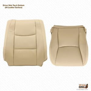 Driver Top Bottom Leather Seat Cover Color Tan Fits 2003 2004 2005 Lexus Gx470