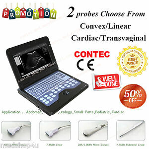 Usa Digital Ultrasound Scanner Portable Laptop Machine 2 Probes 2y Warranty ce
