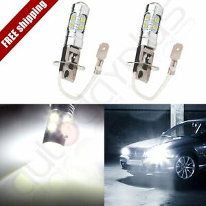2x New H3 60w Cree Led Bright White Fog Driving Drl Light Bulb 6000k 10smd Hid