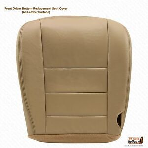 2004 Ford F250 Super Duty Lariat Driver Bottom Leather Seat Cover Parchment Tan