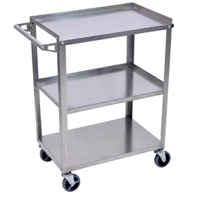 Stainless Steel 3 Shelf Utility Cart