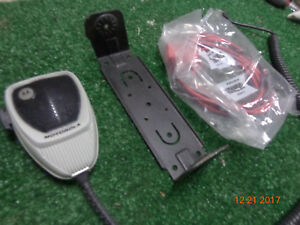 Motorola Maxtrac Gm300 M120 M100 Vhf Uhf Accessory Kit W Mic bracket power Cord