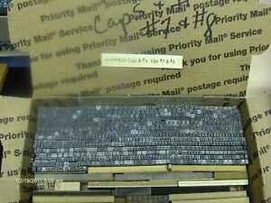 Vintage Antique Metal Letterpress Type Whitfield 12 Pt Caps s 7 s And 8 s