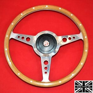 15 Premier Riveted Wood Steering Wheel Hub Fits Mg Mgb 70 81