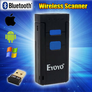 Mini Wireless Bluetooth Barcode Scanner Qr Code Reader For Windows Ios Android
