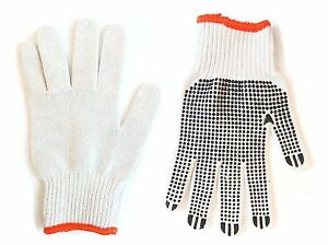 240 Pairs Better Grip Knit Dot Work Gloves Pvc Dot Work Gloves Medium 1 Case