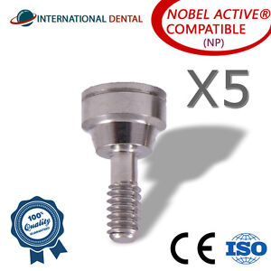 5 Healing Cap Height 2 0mm np For Nobel Biocare Active Hex Dental Implants