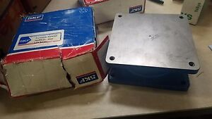 New Open Box Skf Turntable 5204268 10 000lb Steel Locking Bearing Square Blue