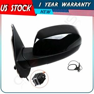 For 2007 13 Chevy Gmc Truck Black Smooth Power Heated Lh Driver Side View Mirror
