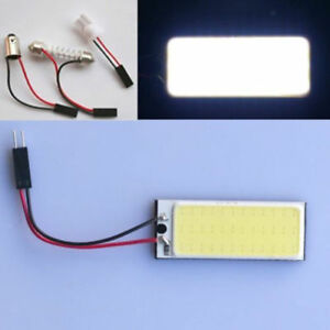2pcs 36 Smd Cob Led 12v White Light Car Interior Panel Lights Dome Lamp Bulb
