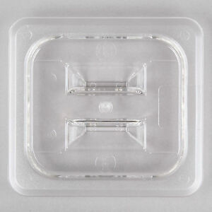4 Pack 1 6 Size Pan Lid Clear Plastic Steam Prep Table Food Polycarbonate Cover