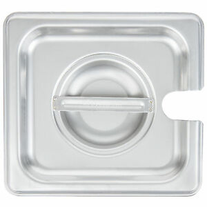 12 Pack 1 6 Size Spoon Pan Lid Stainless Steel Steam Hotel Prep Table Food Cover