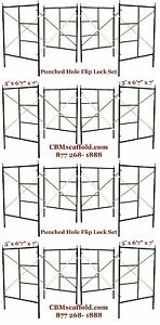 Cbm Scaffold Eight Set Flip Lock 5 X 6 7 X 7 Masonry Scaffolding Frame Set