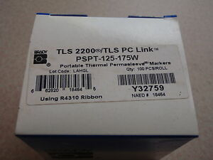Brady Pspt 125 175w Tls 2200 Tls Pc Link Portable Thermal Perma Sleeve Markers