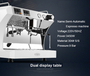 Commercial Semi Automatic Coffee Machine 220v Espresso Machine Coffee Maker