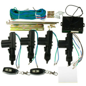 new Car 2 Or 4 Doors Central Lock Locking Keyless Entry System Kit