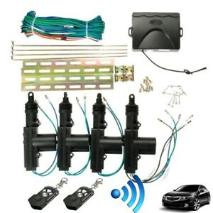 new Car 2 Or 4 Door Central Lock Locking Keyless Entry System Kit Remote Key F