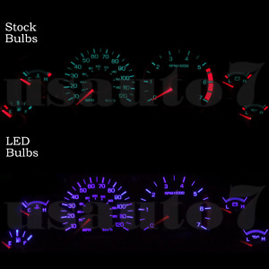 Dash Instrument Cluster Gauge Purple Led Light Bulbs Kit Fits 94 98 Ford Mustang