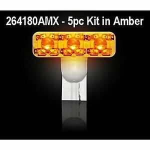 Recon 264180amx 194 1w 5pc Set Amber Bulb Led