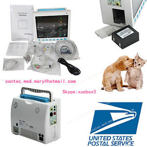 Fda 12 color Vet Veterinary Vital Signs Patient Monitor 6 Parameters usa cms8000