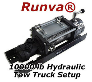 10000lb New Runva Hydraulic Towing Recovery Winch Kit