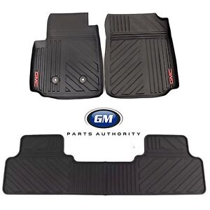 2015 2020 Gmc Canyon Crew Cab All Weather Front Rear Floor Mats Black Oem Gm