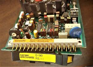 Berger Lahr Stepper Controller Board D190