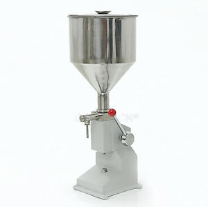 A03 New 5 50ml Manual Filling Machine For Cream Shampoo Cosmetic Liquid Filler
