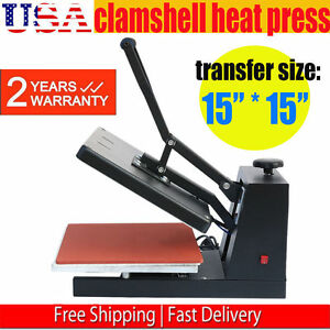 Digital Heat Transfer Machine T shirt Sublimation Printer Heat Press 15 X 15 G